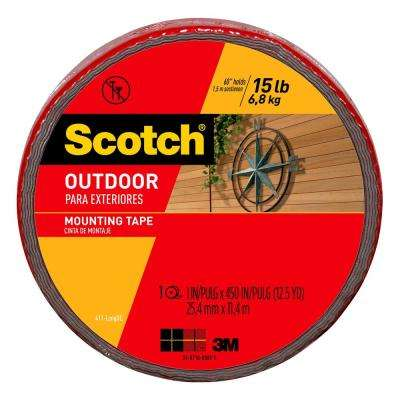 Scotch 1 in. x 12.5 yds. Permanent Outdoor Double Sided Mounting Tape (Case of 6)
