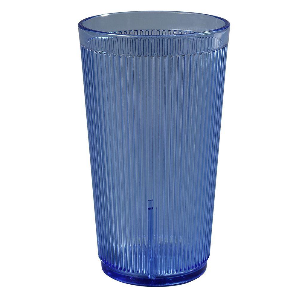 12 oz. SAN Plastic Tumbler in Blue (Case of 48)