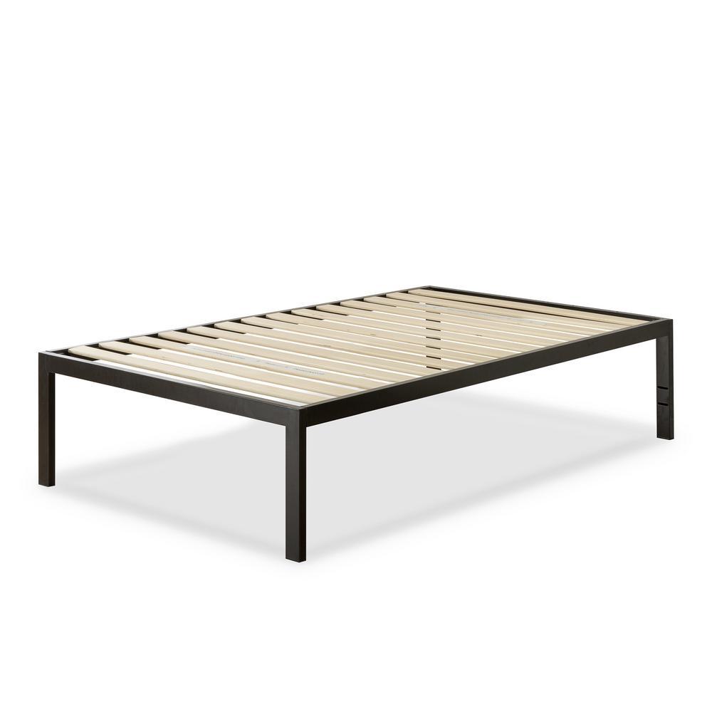 Lorrick Black Metal Twin Platform Bed Frame