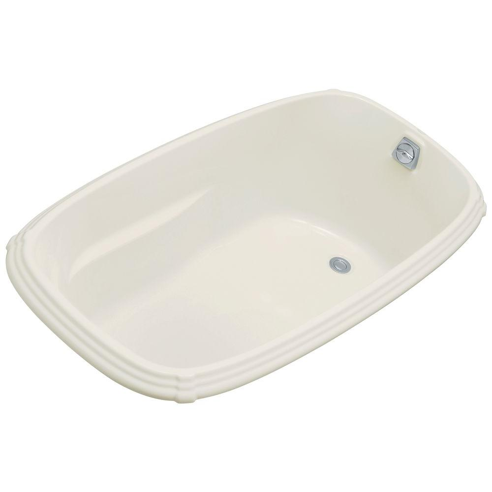 KOHLER Portrait 5 ft. Reversible Drain Soaking Tub in Biscuit
