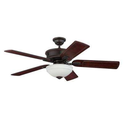 Lexington 52 in. Barcelona Bronze Ceiling Fan