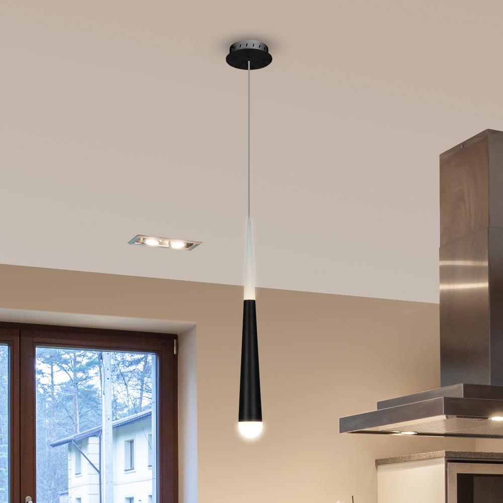 Procyon 7-Watt Black Integrated LED Pendant Lighting Fixture