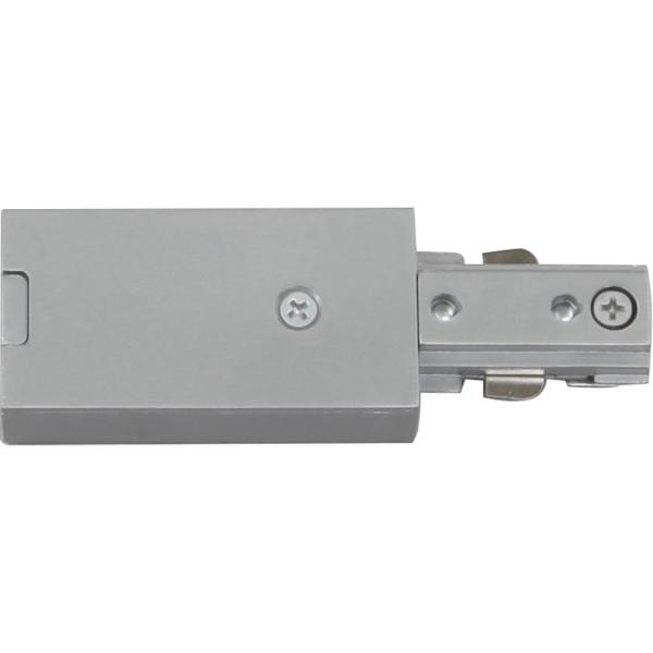 Silver Gray Live End Connector/Conduit Connector for 120-Volt 1-Circuit/1-Neutral Track Systems