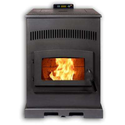 HP54 2,800 sq. ft. EPA Certified Pellet Stove with 100 lbs. Hopper and Auto Ignition in Carbon Black