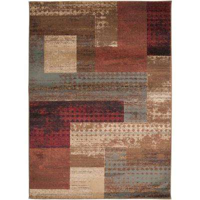 Kazuno Dark Red 10 ft. x 13 ft. Indoor Area Rug