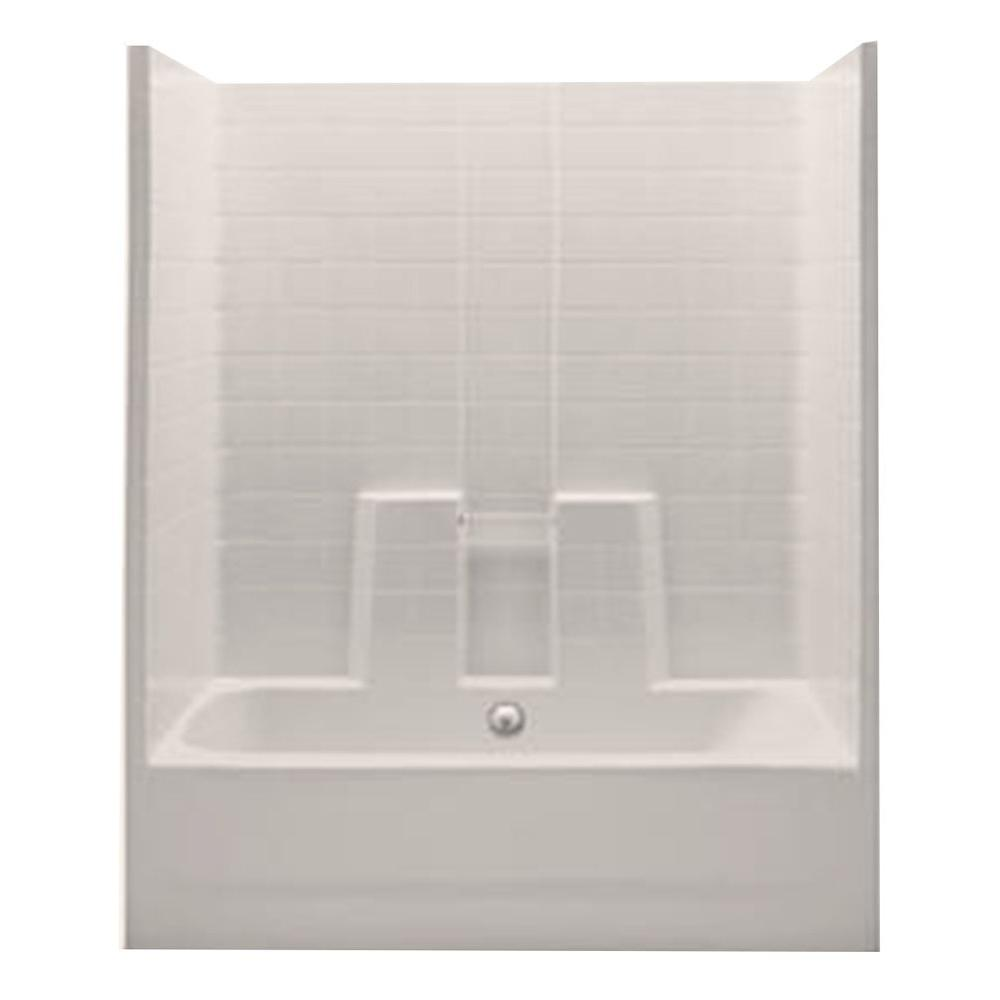 This Review Is From Everyday 60 In X 30 74 1 Piece Bath And Shower Kit With Center Drain Biscuit