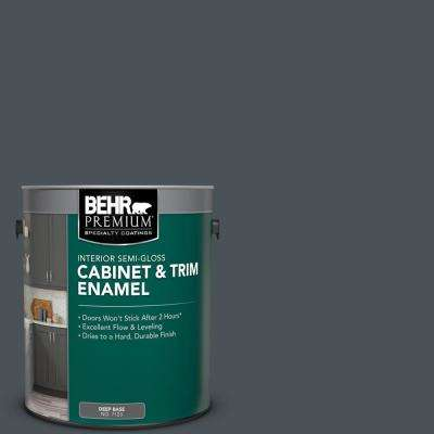 1 gal. #PPU25-22 Chimney Semi-Gloss Enamel Interior Cabinet and Trim Paint
