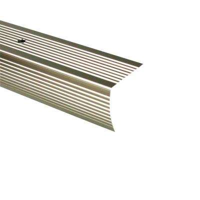 72 in. Pewter Fluted Stair Edging