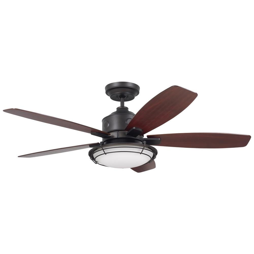 Troposair Dc 6 52 In Indoor Outdoor Oil Rubbed Bronze Ceiling Fan And Light 88451 The Home Depot