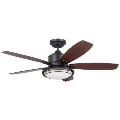 Rockpointe 54 in. Indoor/Outdoor Oil Rubbed Bronze Ceiling Fan