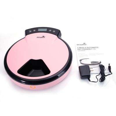 PF-105 5-Meal Pink Automatic Pet Feeder US Plug