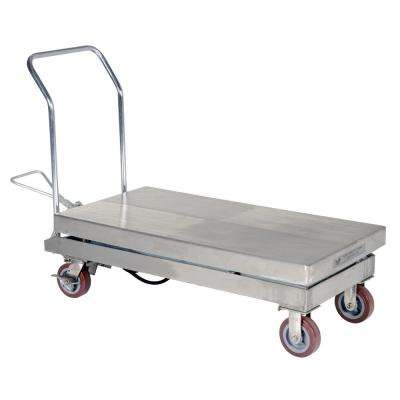 2,000 lb. 24 in. x 47 in. Partial Stainless Steel Elevating Cart