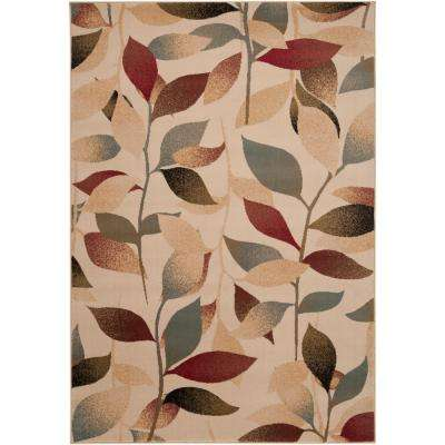 Cassia Dark Red 7 ft. x 10 ft. Indoor Area Rug