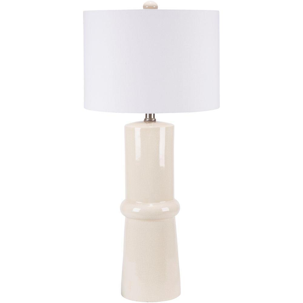 Alexios 30.5 in. Cream Indoor Table Lamp