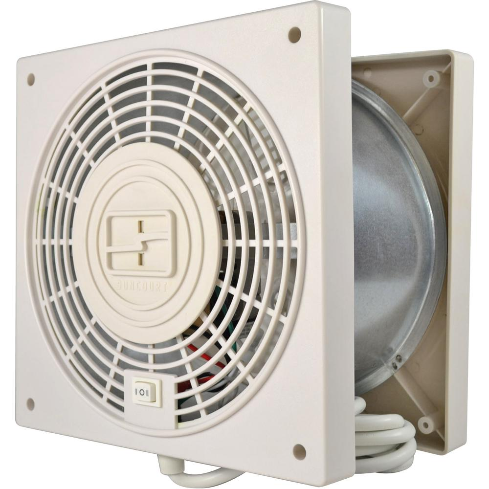 Through Wall Ventilation Fan : Through wall room to fan air circulator transfer