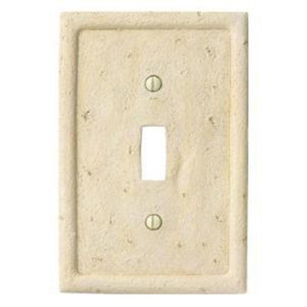 Creative Accents Stone 1 Toggle Wall Plate - Ivory