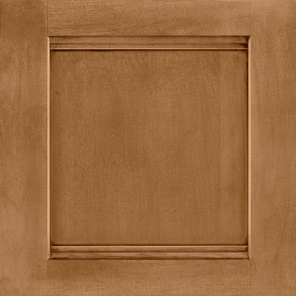 14-9/16x14-1/2 in. Cabinet Door Sample in Del Ray Maple Mocha Glaze