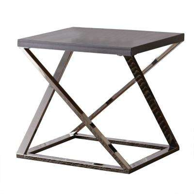 Aegean Black Contemporary End Table