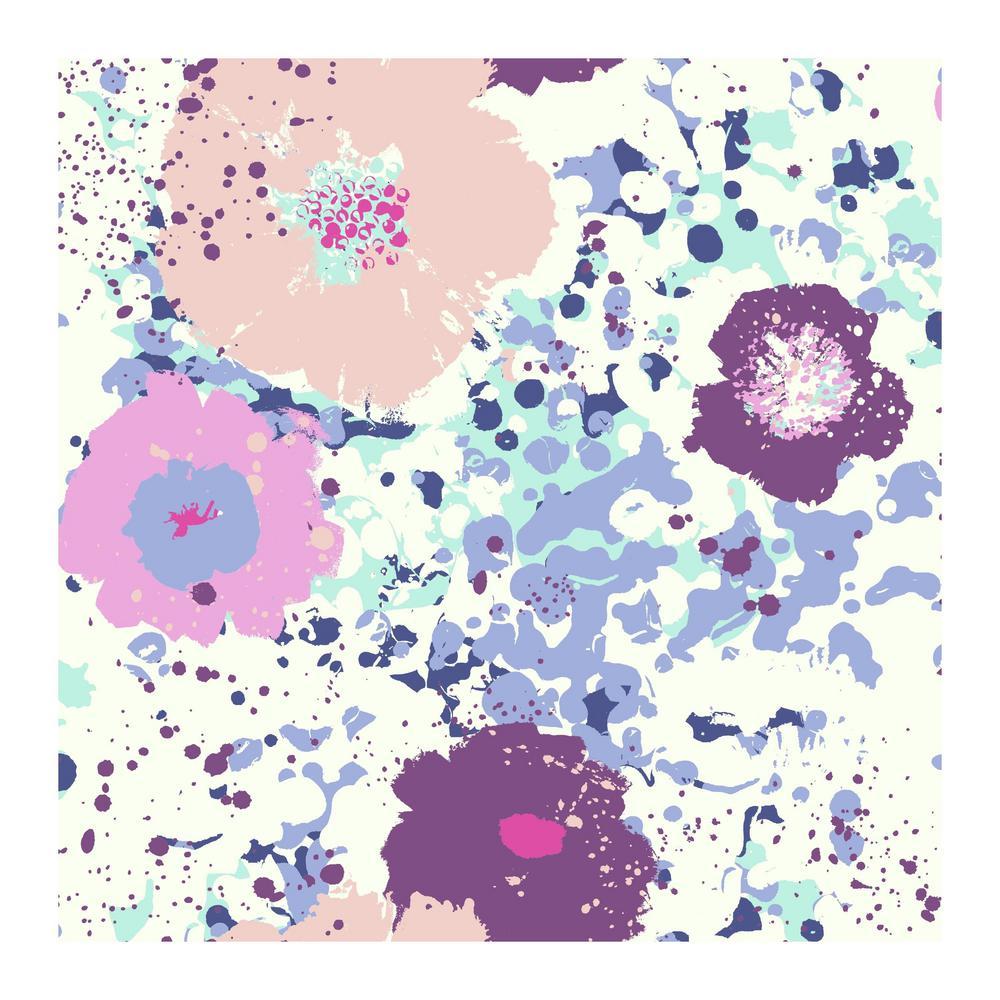 York Wallcoverings Spontaneity Wallpaper, Purple