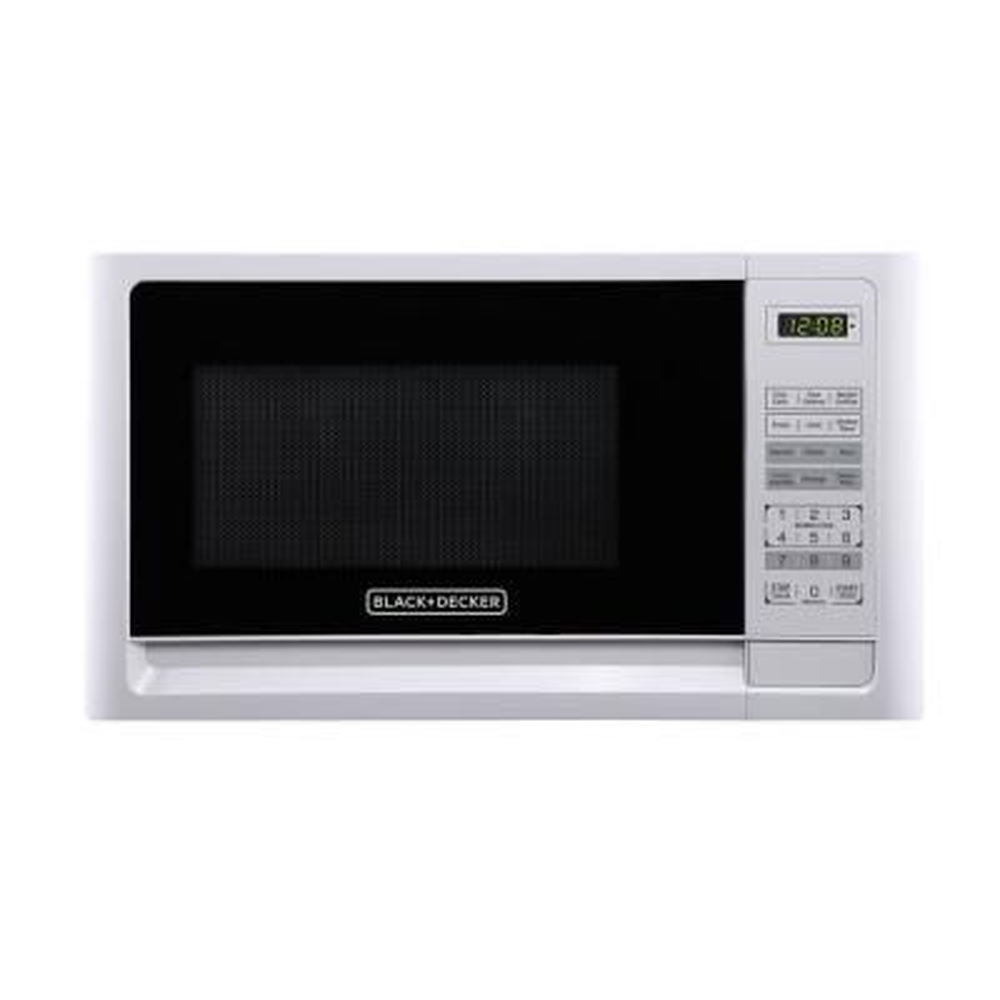 1.1 cu. ft. Countertop Digital Microwave in White
