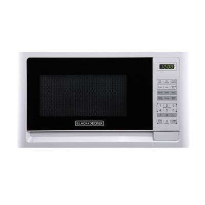 1.1 cu. ft. Countertop Digital Microwave in White
