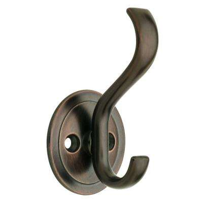3 in. Venetian Bronze Coat and Hat Hook with Round Base