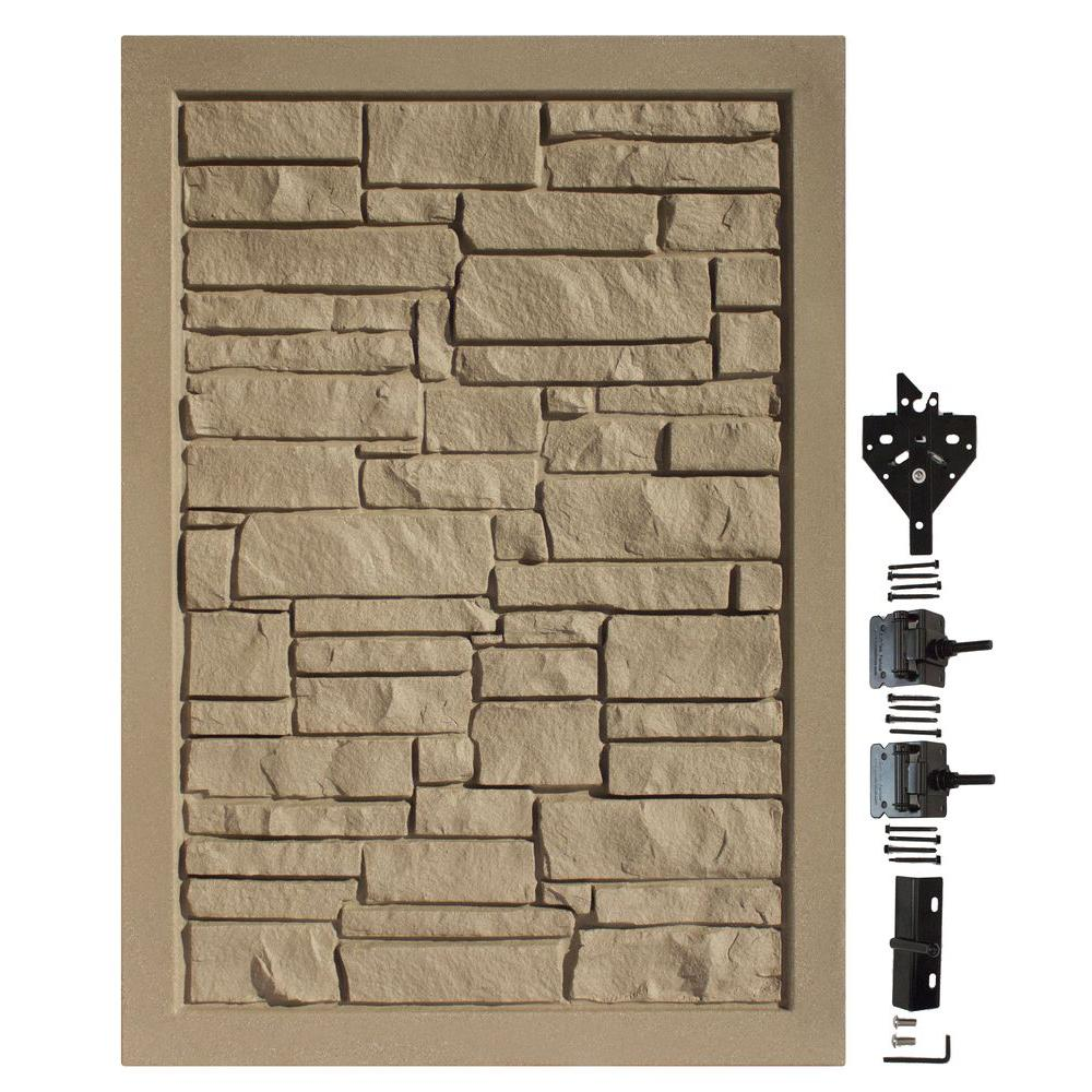 4 ft. W x 6 ft. H Ecostone Brown Composite Privacy