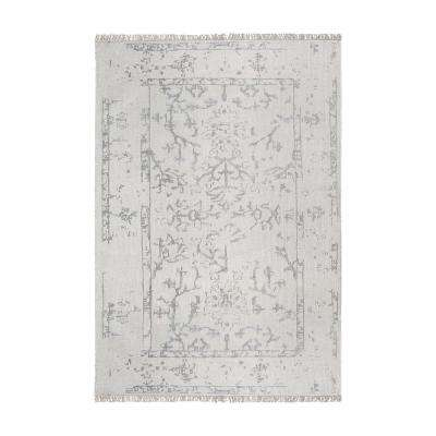 Belleville Ivory and Silver 8 ft. x 10 ft. Indoor Area Rug
