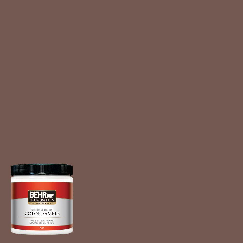 8 oz. #220F-7 Yorkshire Brown Interior/Exterior Paint Sample