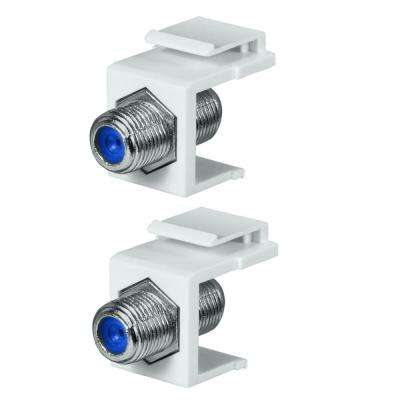 Twist-On F-Connector in White (2-Pack)