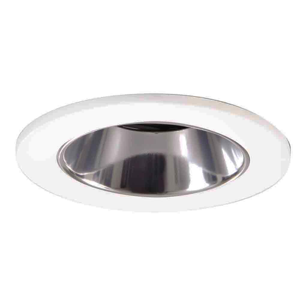 Charming White Recessed Ceiling Light Shower Trim With Regressed Lens And Clear  Reflector