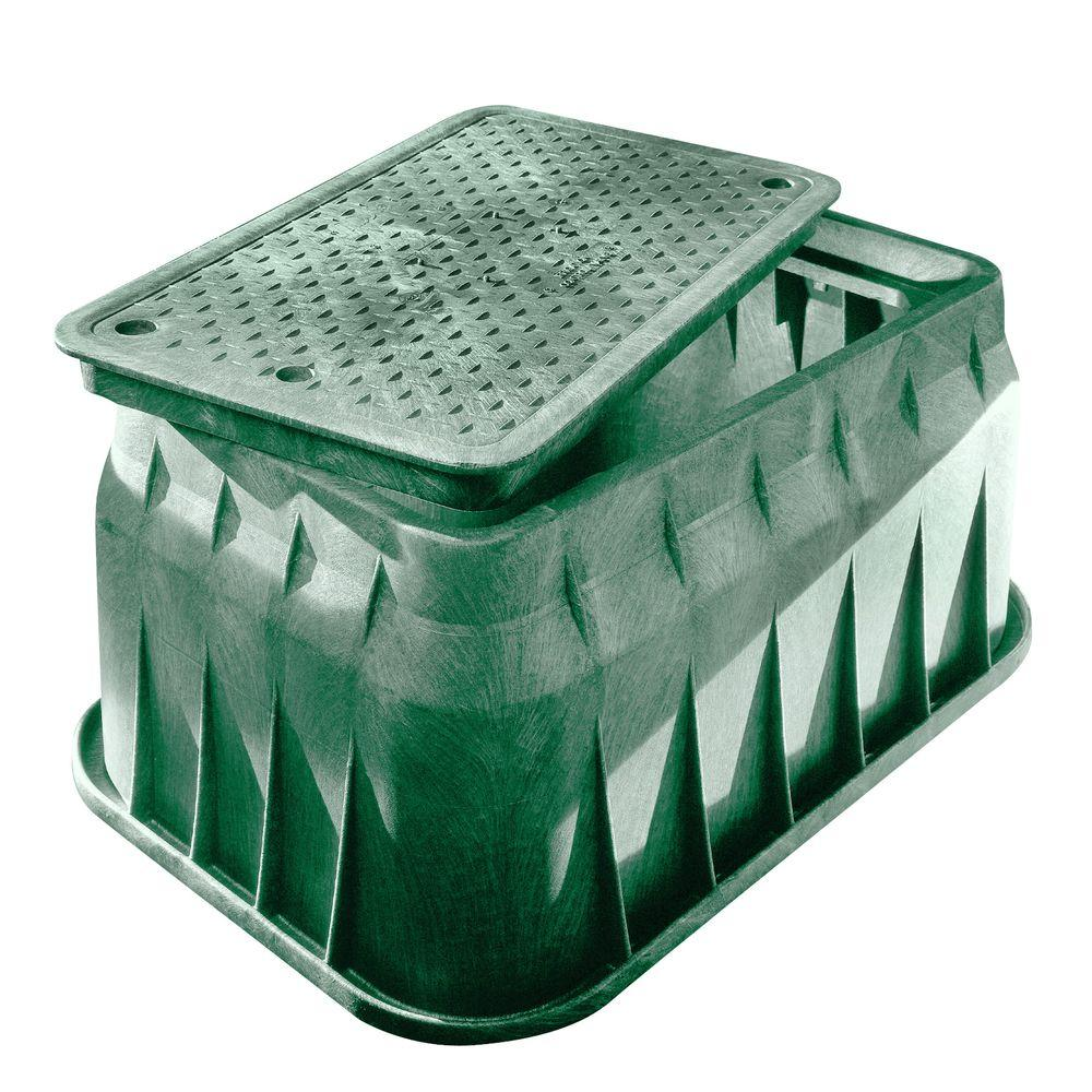 NDS Pro Series 17 in. x 30 in. x 18 in. Valve Box and Bolt-Down Cover - ICV