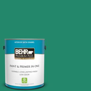 1 gal. #P430-6A Celtic Queen Satin Enamel Low Odor Interior Paint and Primer in One