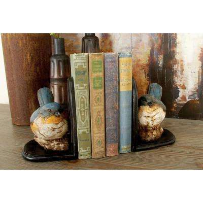 Multicolored Bird Bookends (Set of 2)