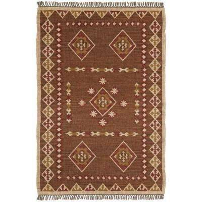 Brown Hacienda Wool 4 ft. x 6 ft. Area Rug