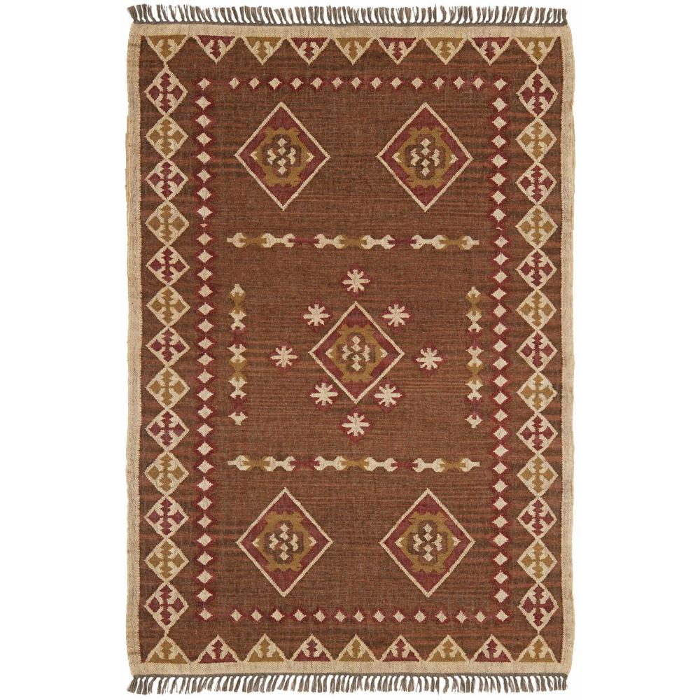 Brown Hacienda Wool 9 ft. x 12 ft. Area Rug