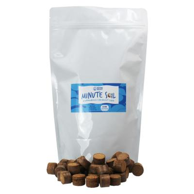 Minute Soil - Compressed Coco Coir Grow Medium 20 mm Pellets (Bag of 100) Equal to 5 Qt. of Potting Soil Peat Free OMRI