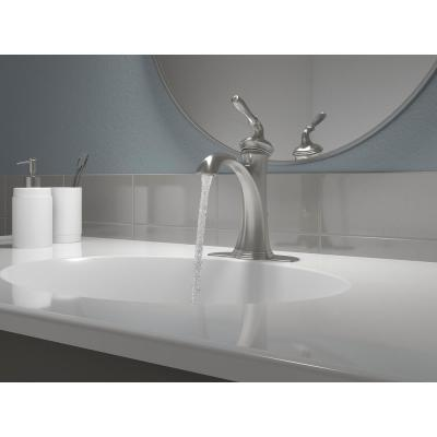 Devonshire Single Hole Single Handle Water-Saving Bathroom Faucet in Vibrant Brushed Nickel