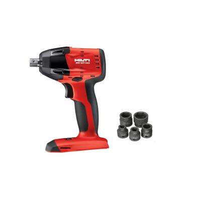 SIW 6AT-A22 22-Volt Cordless Brushless Impact Wrench with 1/2 in. Ball Detent Pin and 6 Sockets (Battery not Incl.)