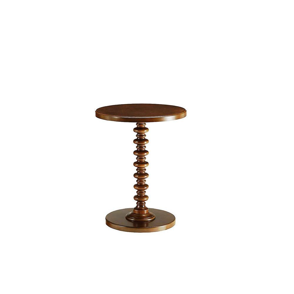 Amelia Walnut Wood Veneer Side Table