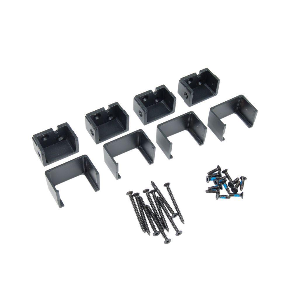 Fortress Railing Products Al13 1-1/2 in. Aluminum Black Sand Level External Bracket (4-Pack)