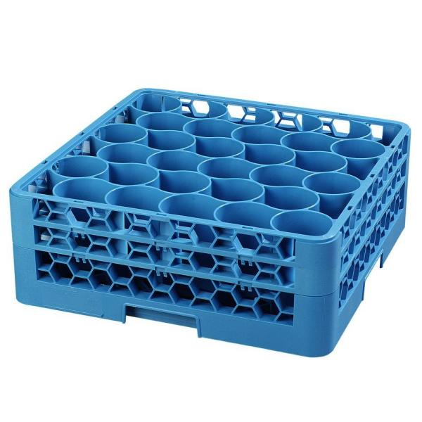 19.75 in. x 19.75 in., Polypropylene 30 Compartment, 2 Extender Glass Rack/Commercial Dishwasher in Blue (Case of 3)
