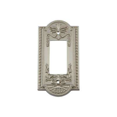 Meadows Switch Plate with Single Rocker in Satin Nickel