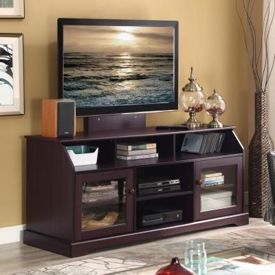 Home Source Corner Tv Stand Convertible to Fireplace