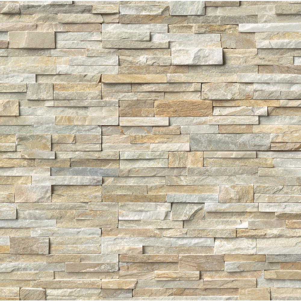 Golden Honey Ledger Panel 6 in. x 24 in. Natural Slate Wall Tile (5 cases / 30 sq. ft. / pallet)