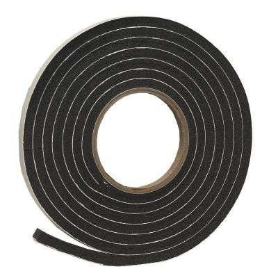 3/8 in. x 5/16 in. x 10 ft. Black Rubber Foam Weatherseal Tape