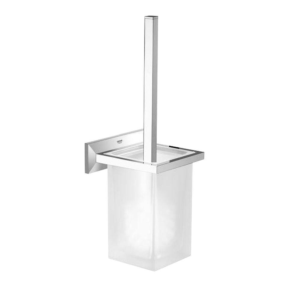Allure Brilliant Wall-Mount Toilet Brush Holder in StarLight Chrome
