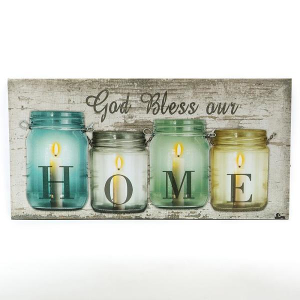 Bless Our Home Canvas Print