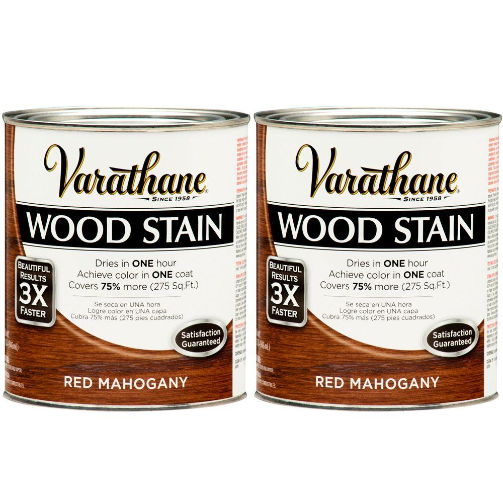 Varathane 1 Qt. Red Mahogany Wood Stain (2-Pack)-DISCONTINUED