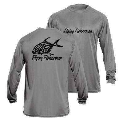 Permit Large Long Sleeve Performance Tee in Gray